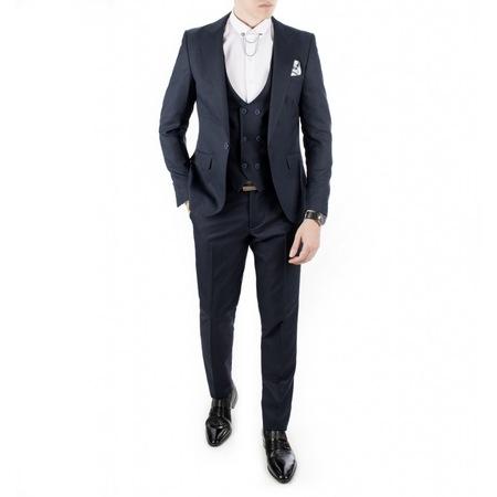 3e372253ffc83 Erkek Lacivert Kare Desen Erkek Takım Elbise 18000140 - n11.com