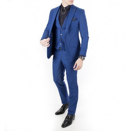 e996bb5b5eb26 Saks Mavisi Elbise 2019 Erkek Takım Elbise Modelleri - n11.com