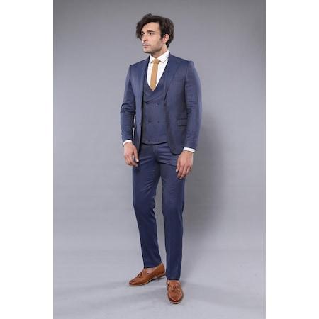 7fa735b567ff1 Kendinden Desenli 2019 Erkek Takım Elbise Modelleri - n11.com