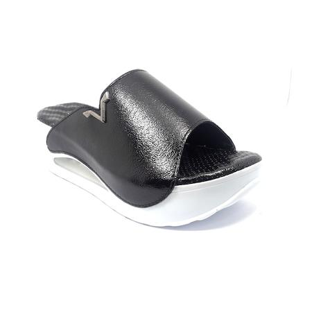 Clavi 120 Siyah Dolgu Topuk Masaj Taban Kadın Terlik