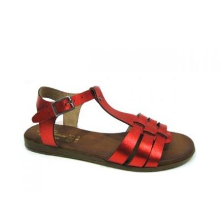 Tofima Kadın Sandalet Klasik Kırmızı