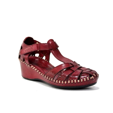 Venüs 0791382 Deri Kadın Dolgu Topuk Sandalet