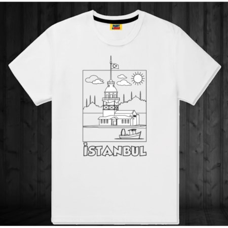 4 11 Yaş Arası çocuk Boyama T Shirt Kız Kulesi N11com