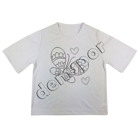 Boyama Tişörtü Kalp Kelebek Tema 2 N11com
