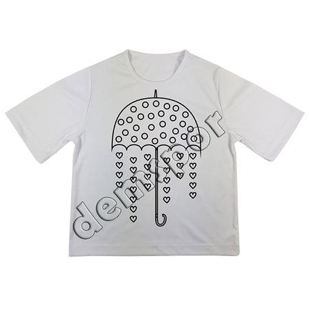 Boyama Tişörtü Yağmur Tema 11 N11com