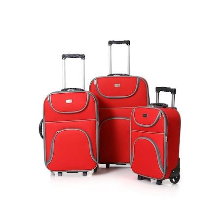 7ec9deddece31 3 Lü Kumaş Valiz Seti - Körüklü Çekçekli Seyahat Çantası - Bavul - n11.com