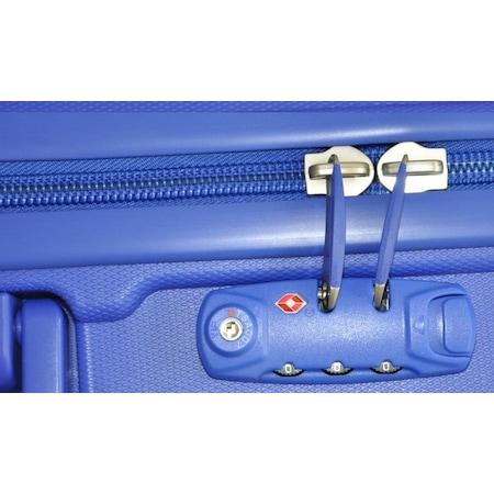 b4d41366044cf Hotowa Valiz 8 Teker Htw8006 Kırılmaz Pp Valiz Koyu Mavi Orta Boy - n11.com