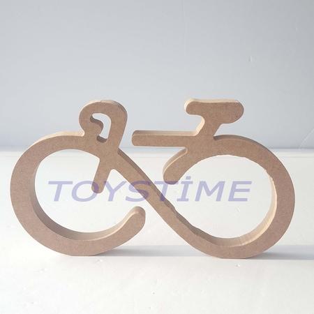 Ahşap Hobi Boyama Bisiklet Figür N11com