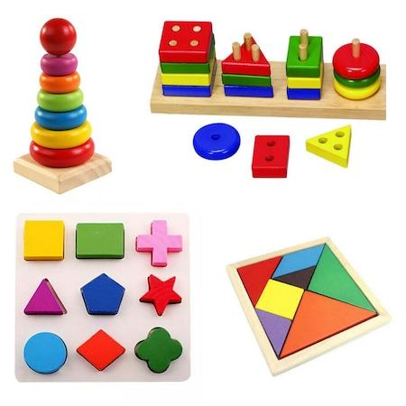 Çocuklar için geometrik figürler: oyunlar ve gelişim yardımcıları