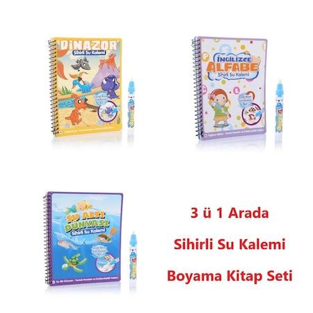 Sihirli Boyama Kitabı özel Kalemi Water Magic Boyama 3 Kitap