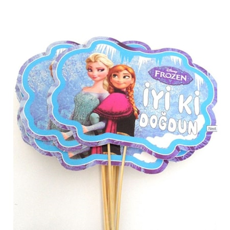frozen elsa anna karlar ulkesi konusma balonu cubugu 2 adet konus