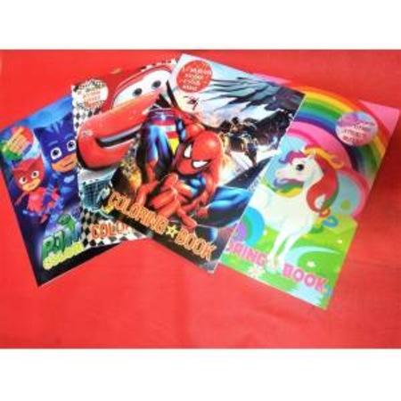 Boyama Kitabi Seti Erkek Cocuk Maske Ve Sticker Hediyeli 4 Ad