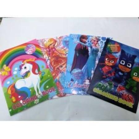 Boyama Kitabı Seti Kız çocuk Maske Ve Sticker Hediyeli 4 Adet