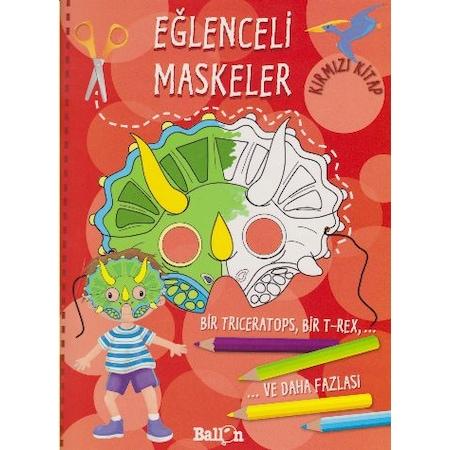 Eğlenceli Maskeler Kırmızı Kitap Oyun Aktivite Ve Boyama Kitab