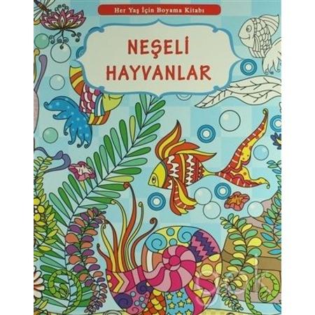 Her Yaş Için Boyama Kitabı Neşeli Hayvanlar N11com