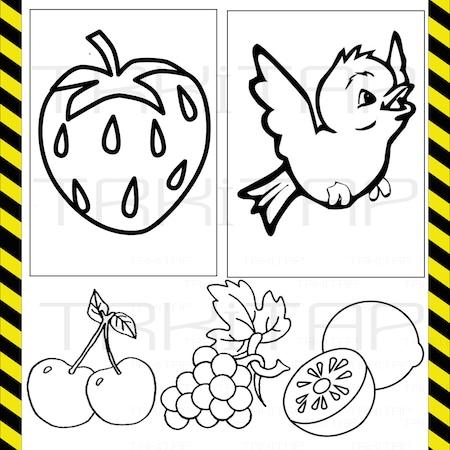 Okul öncesi Ilk Boyama 4 Kitap Seti Faber 12 Renk Kuru Kalem Takı
