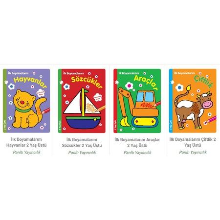 Ilk Boyamalarım Boyama Kitapları 2 Yaş üstü 4 Adet Tam Set ücrets