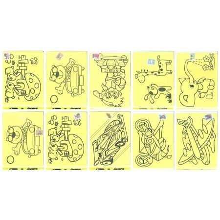 Kum Boyama A4 A 4 Boy Karışık Desen Figürler 50 Adet Toptan N11com