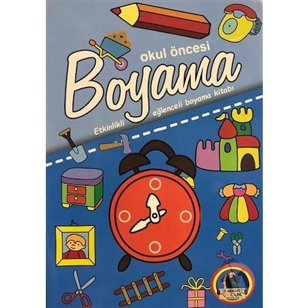 Okul Oncesi Boyama Etkinlikli Eglenceli Dev Boyama Kitabi Kav