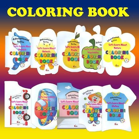 Okul Oncesi Renkli Sekilli Ingilizce Boyama Seti 10 Kitap N11 Com