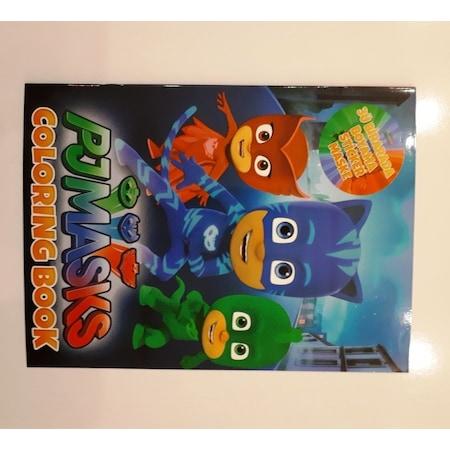 Pj Mask Pija Maskeliler Faaliyet Kitabı Boyama Sticker Maske Set