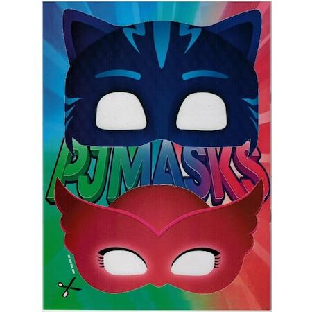 Pjmask Pijamaskeliler Boyama Kitabi Sticker Maske Super 3 Lu
