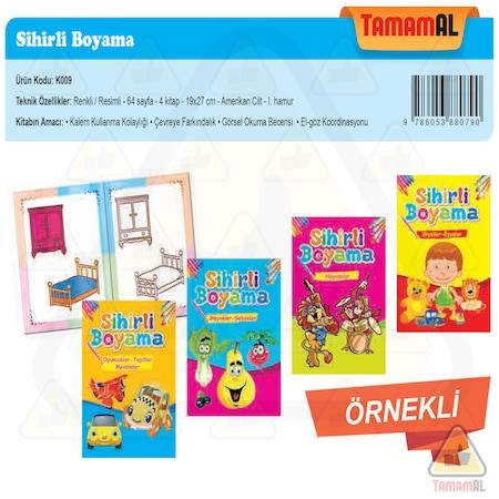 Sihirli Boyama Kitabi 4 Kitap Okul Oncesi Ornekli N11 Com