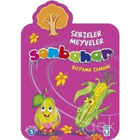 Sonbahar Sebzeler Meyveler Boyama Zamanı N11com