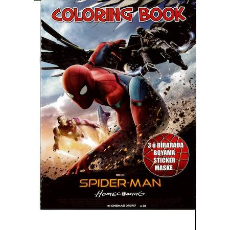 Spiderman Boyama Kitabi Sticker Ve Maske Hediyeli N11 Com