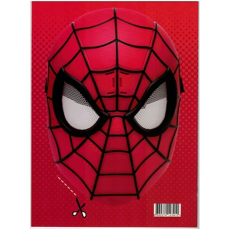 Spiderman Orumcek Adam Boyama Kitabi Sticker Maske Super 3 Lu