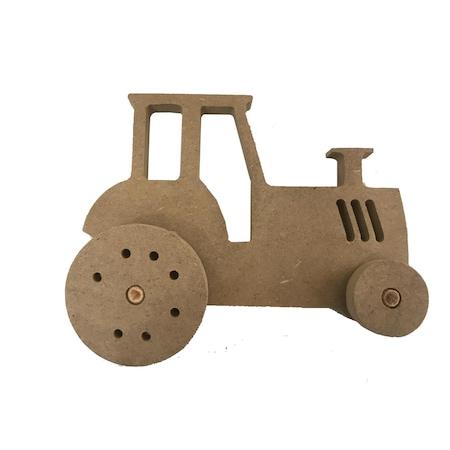 Ahsap Traktor Boyama 1 Adet N11 Com