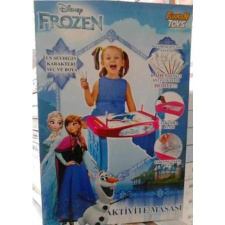 Disney Karlar ülkesi Frozen Aktivite Masası Boya Kalemleriyle N11com