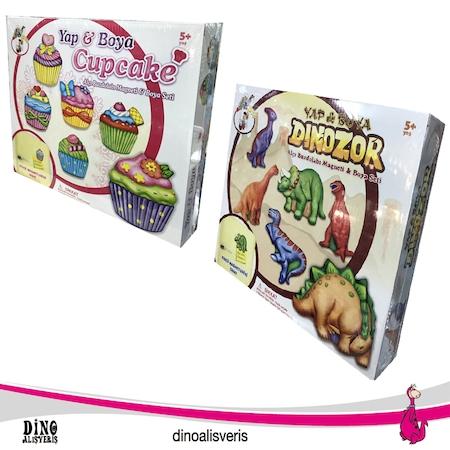 Yap Boya Oyun Seti Alçı Buzdolabı Magneti Boya Seti N11com
