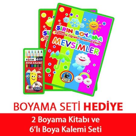 2li Boyama Kitabi Ve Kuru Boya Seti 5 7 Yas Erkek Oyun Setleri