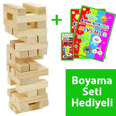Ahsap Oyuncak Denge Oyunu Boyama Kitap Seti Hediyeli 5 7 Yas N11 Com
