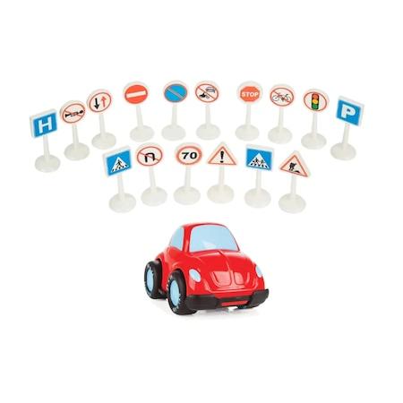 Pilsan Lux Trafik Isaretleri 16 Adet Oyun Seti Oyuncak Araba