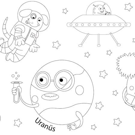Proll Dev Boyama Kağıtları Gezegenler N11com