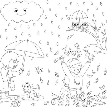 Proll Dev Boyama Kağıtları Mevsimler N11com