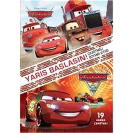 Disney Arabalar Yarış Başlasın çıkartmalı Boyama Kitabı N11com