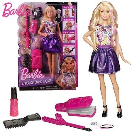 Barbie Etkileyici Saçlar Saç Tasarım Ve Boyama Seti Mattel Dwk49