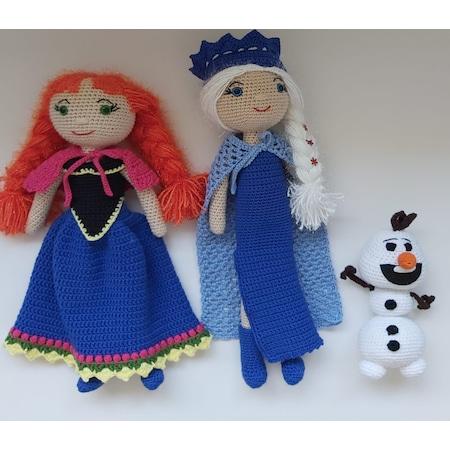 PATTERN 2-PACK: Anna and Elsa Frozen Crochet Amigurumi Dolls ...   450x450