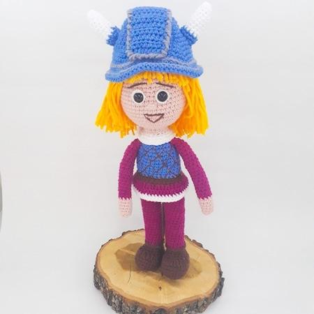 Viking wool doll amigurumi for kids: Amazon.co.uk: Handmade | 450x450
