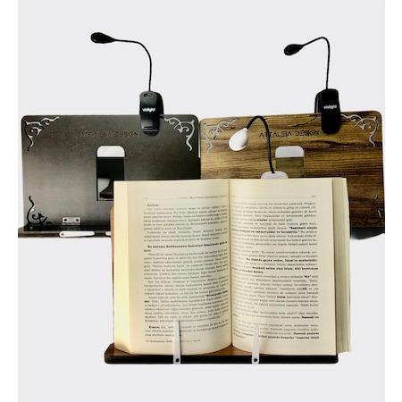 Kitap ışık Tablet Esnek Standı Göz Dostu Clip On Okuma Lambası Taşınabilir Müzik Puanı Ayarlanabilir şarj Edilebilir Masa Vantilatörü