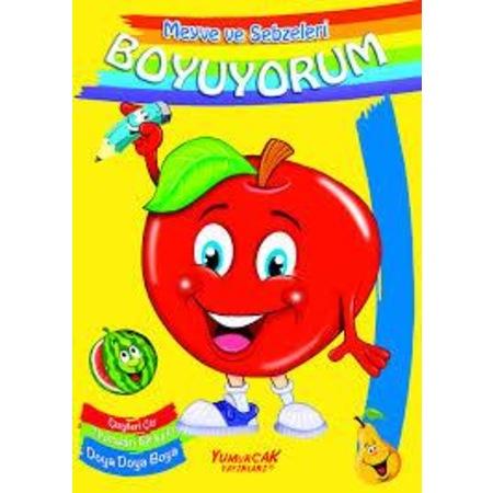 Meyve Ve Sebzeleri Boyuyorum Kavramlar Boyama Yumurcak N11com