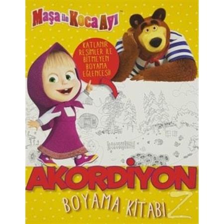 Maşa Ile Koca Ayı Akordiyon Boyama Kitabı N11com