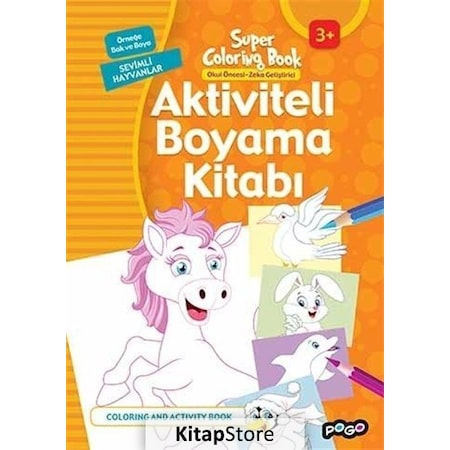 Aktiviteli Boyama Kitabi Sevimli Hayvanlar Kollektif N11 Com