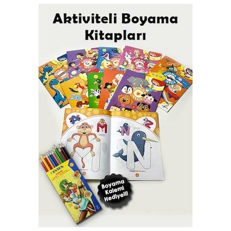 Aktiviteli Boyama Kitaplari 10 Kitap 640 Sayfa Boyama Kalemi He