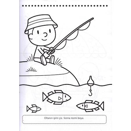 Anaokulu Etkinlikleri Boyama 4 Kitap Dikkat Zeka Gelisimi Kavram