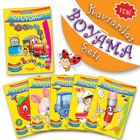 Kavramlar Boyama Seti 6 Adet Buyuk Boy Boyama Kitabi N11 Com