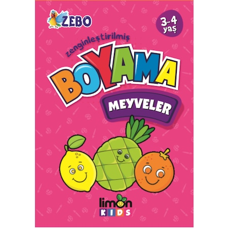Limon Kids 3 4 Yas Zenginlestirilmis Boyama Meyveler N11 Com